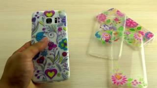 ОБЗОР: Красивый Силиконовый Чехол-Накладка для Samsung Galaxy S7 Edge Duos SM-G935F с Рисунком
