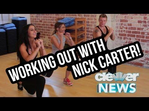 Nick Carter Fitness Fun - Wedding and Backstreet Boys Interview!