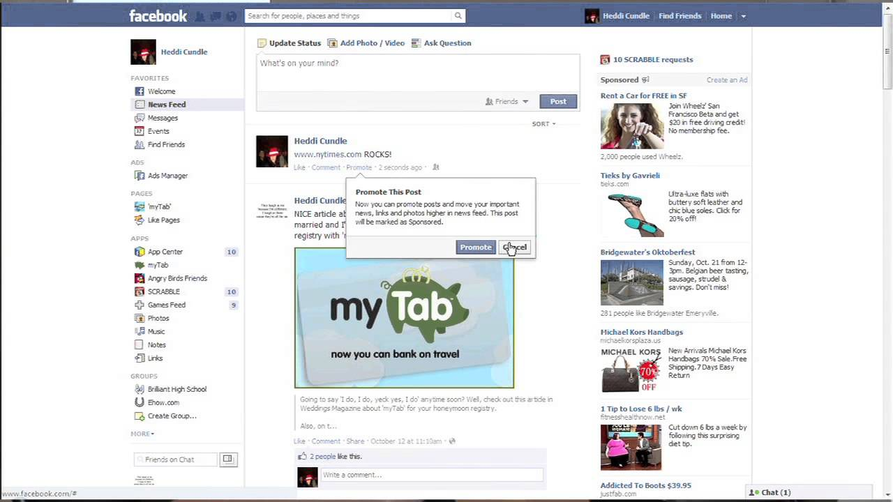how to use affiliate links on facebook