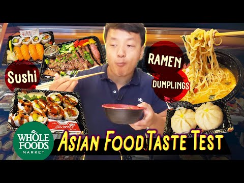 Trying SUSHI RAMEN DUMPLINGS From Whole Foods  Whole Foods Asian FOOD REVIEW