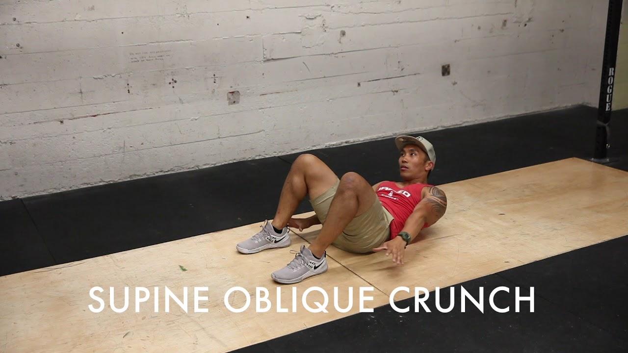 Supine Oblique Crunch Youtube