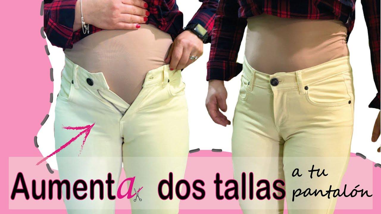 AUMENTA 2 TALLAS A TU PANTALÓN de la cintura y cadera. Paso a paso. DIY. Reutiliza tus pantalones.
