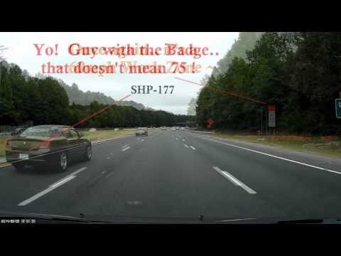 "North Carolina State Highway Patrol ""SHP-177""  Ranking Officer Speeding in Work Zone!"