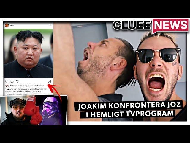 JOAKIM LUNDELL KONFRONTERA JOZ I HEMLIGT TV-PROGRAM #Clueenews EINAR PÅ TIKTOK!