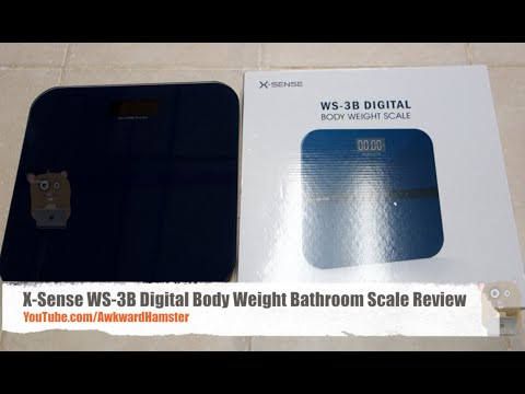 x-sense ws-3b digital body weight bathroom scale review - youtube