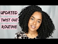 HOW TO Natural Hair Twist Out Routine for Definition, Volume and Length