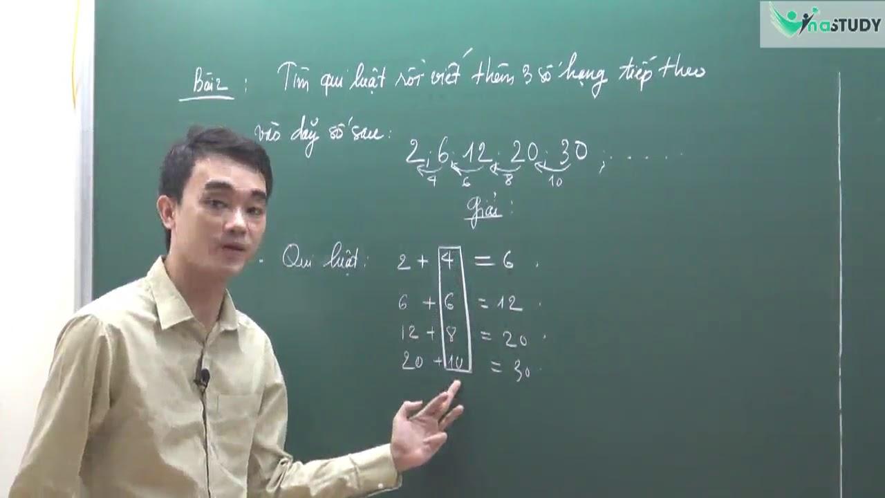 Toán nâng cao lớp 4 – Dãy số viết theo quy luật – thầy Nguyễn Thành Long