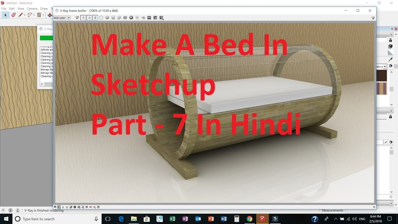 Make A Bed In Sketchup Part 7 Sketchup Tutorial In Hindi YouTube