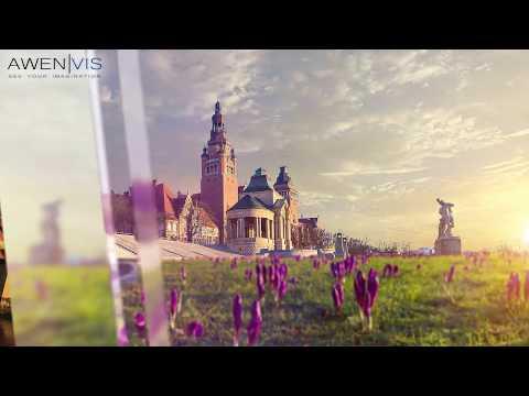 3D Architectural Animations CGI. Hanza Tower, skyscraper presentation