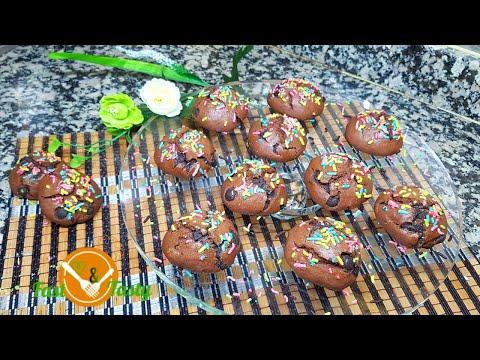 biscuits-au-chocolat-recette-facile-بسكويت-الشوكولاتة-chocolate-cookies-easy-recipe
