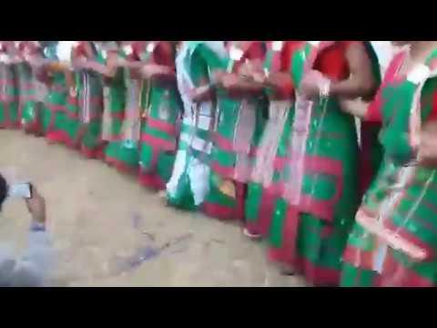 Doing Chain Dance on Santhali Song Sangat Kuri