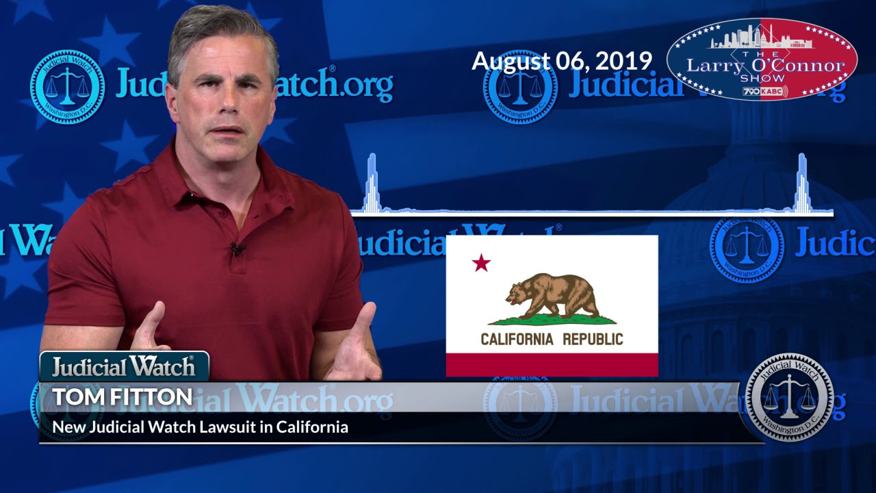 "Judicial Watch California Law on Candidates Disclosing Tax Returns ""OBVIOUSLY Aimed at Trump&qu"
