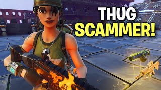 Young little THUG Scammer gets exposed! 🤣 (Scammer Get Scammed) Fortnite Save The World