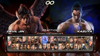 Tekken 6 Opening and All Characters [PSP]