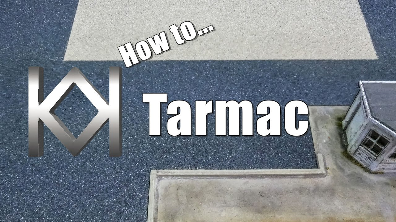 How to Model Tarmac using Rust Oleum Textured Paint YouTube