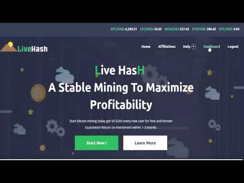 LIVE HASH New Bitcoin Earning Site 2018   Earn 50$ to 100