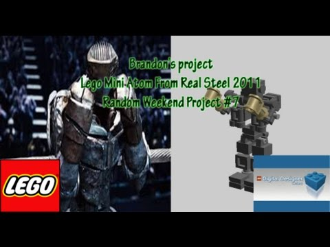 how to build lego real steel mini atom stop motion build youtube