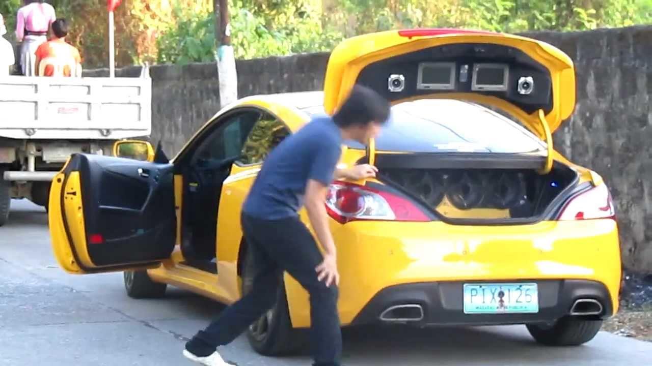 Hyundai Genesis Coupe Yellow Custom Youtube