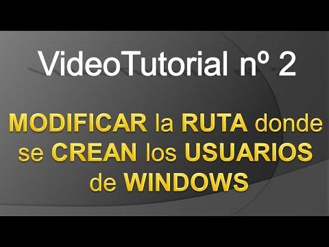 TPI - Videotutorial nº 2 - Cómo cambiar la ruta predeterminada donde se guardan los perfiles de usuario de Windows