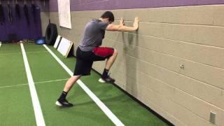 Speed Development- Wall Drill: Knee Drive, Foot Strike