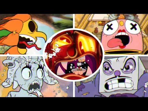 Cuphead - All Boss Knockouts Animations