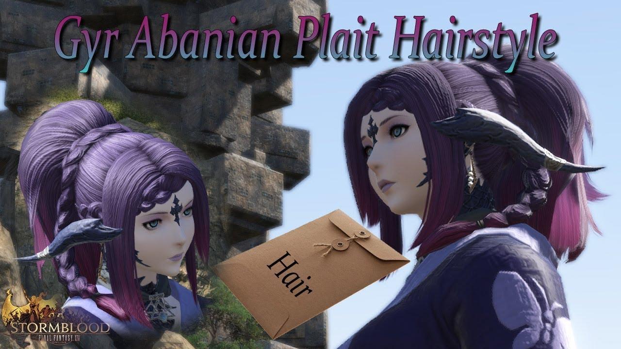 FFXIV: Gyr Abanian Plait Hairstyle