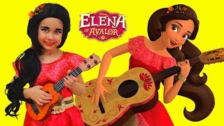 Elena of Avalor Yulya Pretend Princess and Play with Toy Guitar