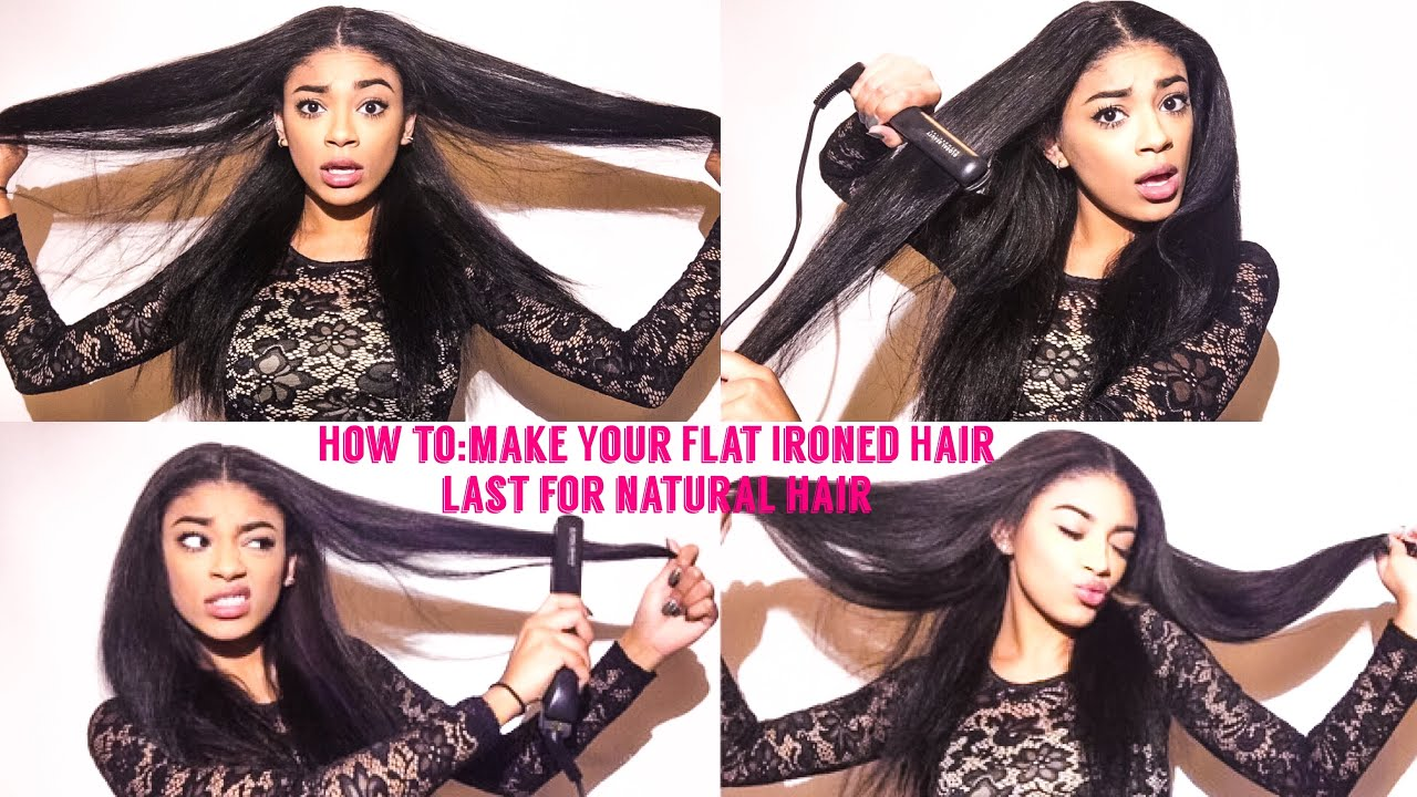 How To: Fix/Make Your Flat Ironed Hair Last-natural hair | jasmeannnn