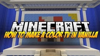 Color TV in vanilla minecraft with sound and a total of 20FPS