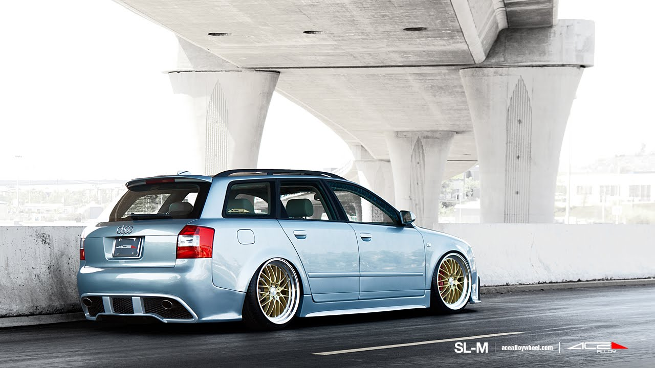 "Ace Alloy Wheels >> AUDI B6 Wagon on 20"" ACE SL-M WHEELS / RIMS - YouTube"