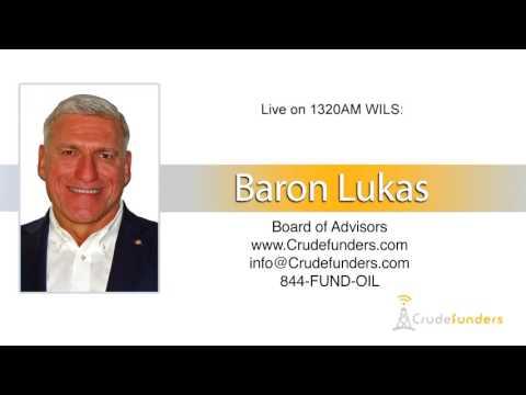 Baron Lukas, Board of Advisors of Crudefunders live on the radio in Michigan