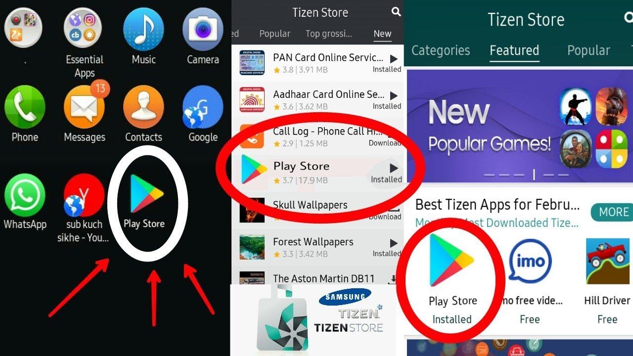 Tizen phone मे Playstore install आसान हो गया //Z1, Z2, Z3, Z4// by sub kuch  sikhe