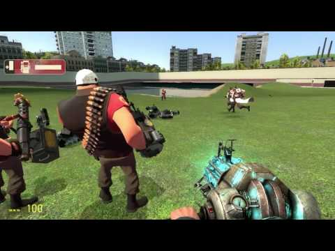 random footage of me playing with tf2 bots in gmod