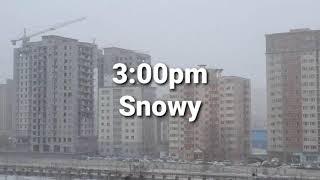 Dusty vs Snowy. Mongolia, Ulaanbaatar.