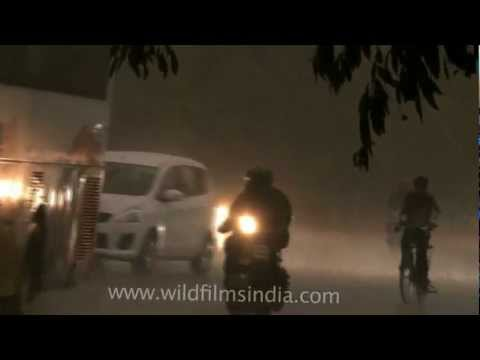Monsoon storm in Delhi