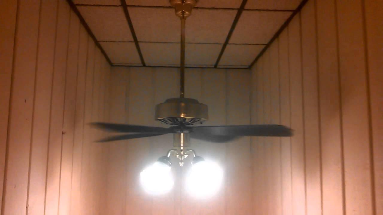 Thomas Fasco Copy Ceiling Fan In Polished Brass 4 Light