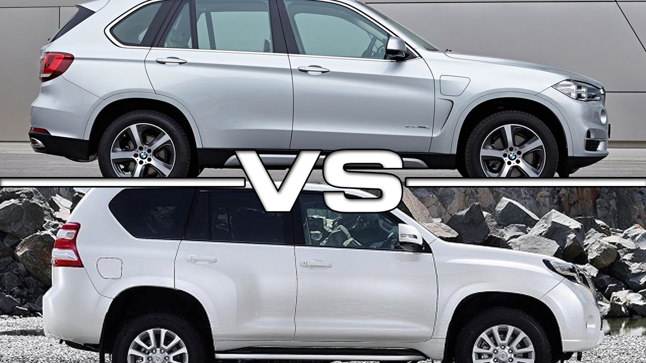 2016 Bmw X5 Vs 2016 Toyota Land Cruiser Prado Youtube