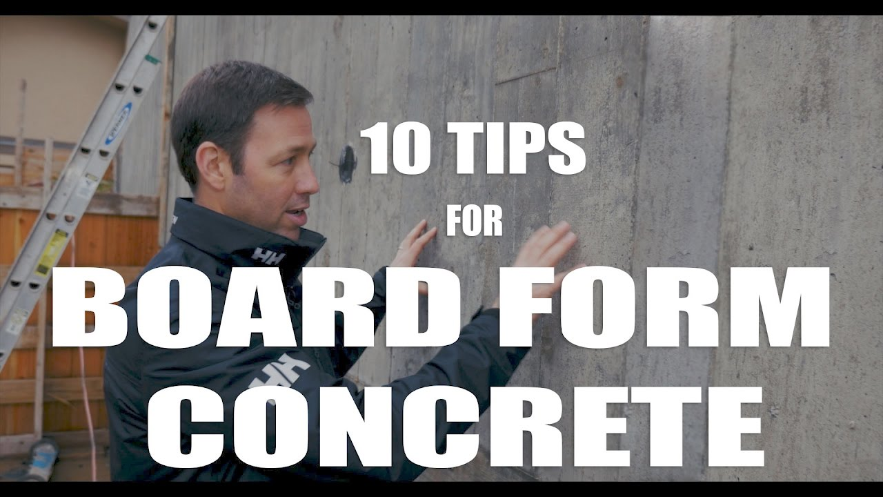 Board Formed Concrete 10 Tips Youtube