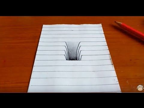 Very Easy!! How To Drawing 3D Hole - Trick Art on Line ...