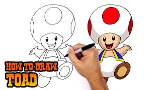 How to Draw Toad | Super Mario Bros