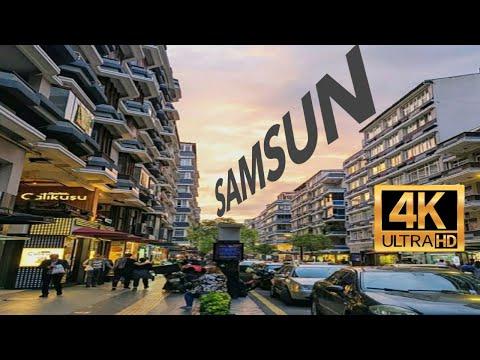 SAMSUN İlkadım   Çiftlik Caddesi - 56'lar Turu   Turkey - Main Street Walking Tour