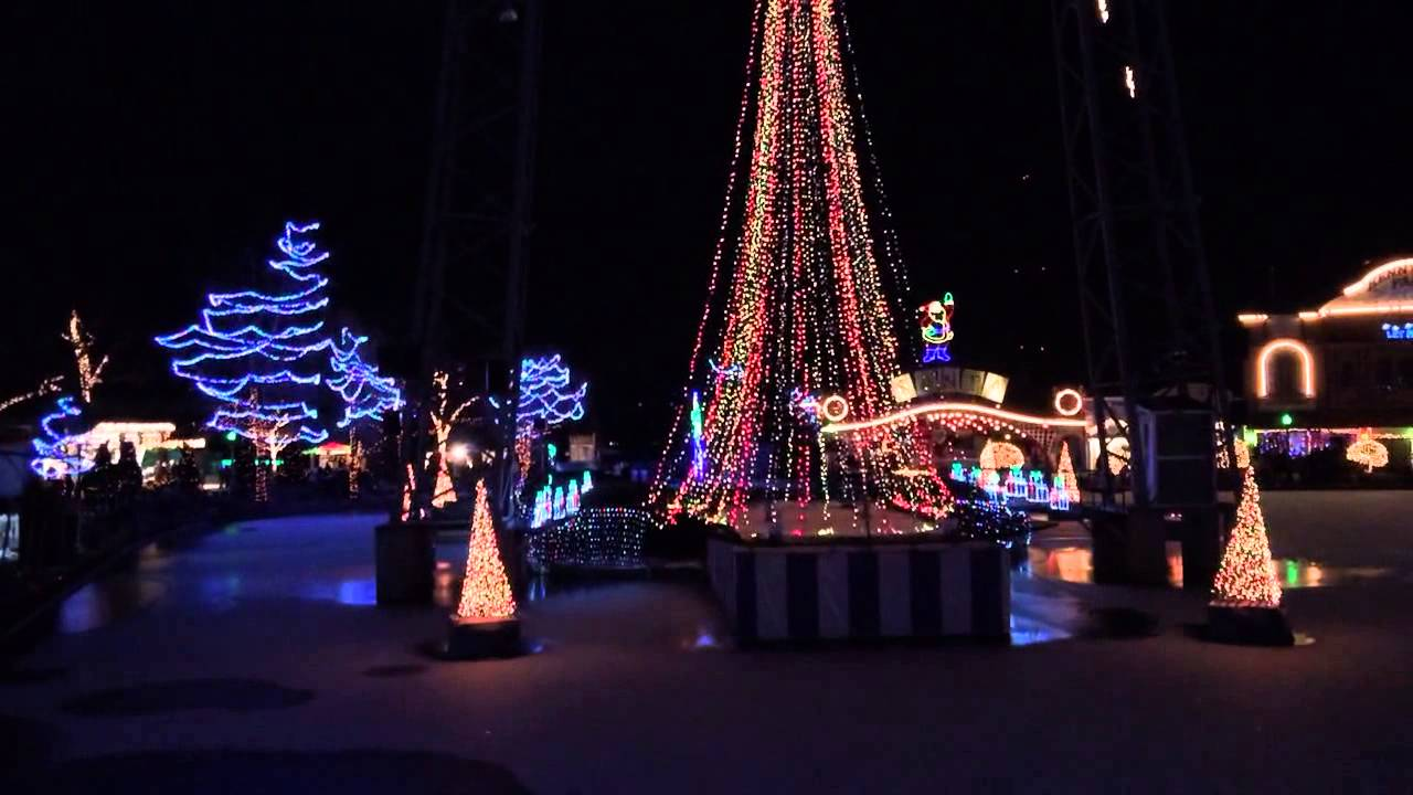 Kennywood holiday light show - YouTube