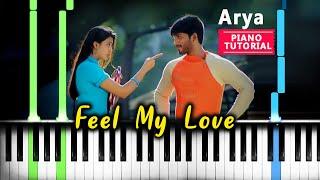 Arya - Feel My Love Piano Tutorial   Feel My Love Instrumental Cover   Arya     Kutty  