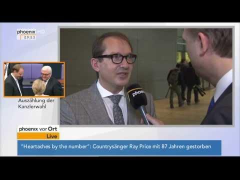 Wahl der Bundeskanzlerin: Alexander Dobrindt (CSU) im Interview am 17.12.2013