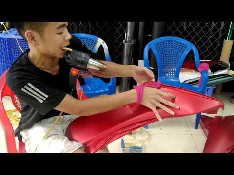 Anh Sói - Honda PCX Dán Decal đổi Màu đỏ Sơn Nhám