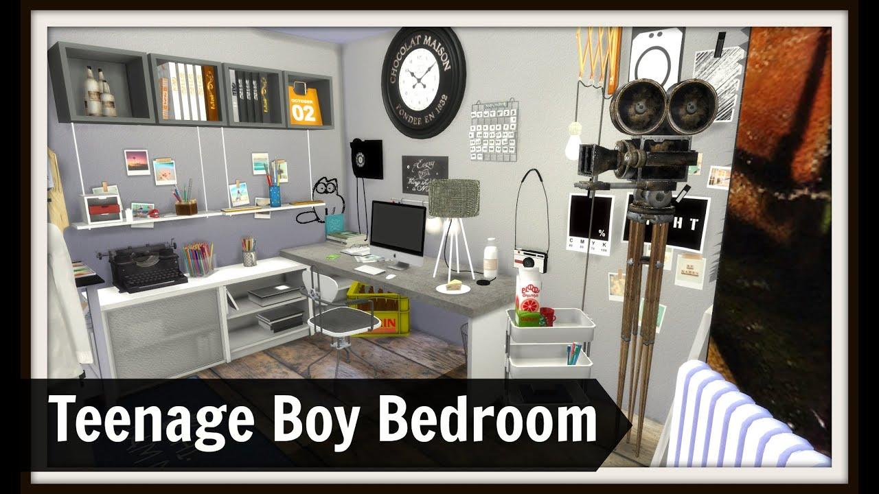 Sims 4 Teenage Boy Bedroom YouTube