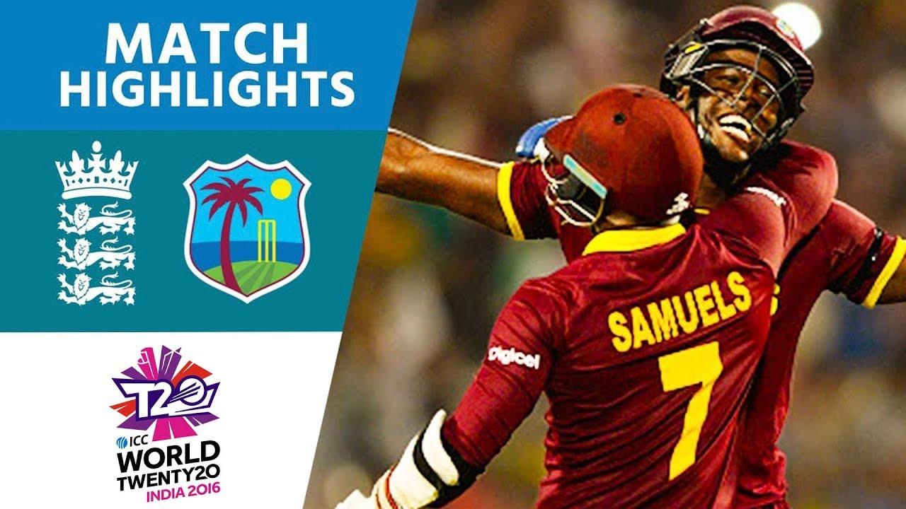 Download Brathwaite Hits 4 Sixes To Win!    England vs West Indies   ICC Men's #WT20 FINAL - Highlights