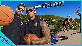Challenging 2 POLICE OFFICERS to Trick Shot H.O.R.S.E.