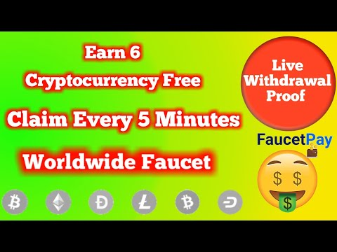 Worldwide Top 6 Crypto Faucet Site | Claim Every 5 Minutes | Instant Payout in Faucetpay