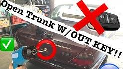 UNLOCK TRUNK WITH OUT KEY   Jaguar x300